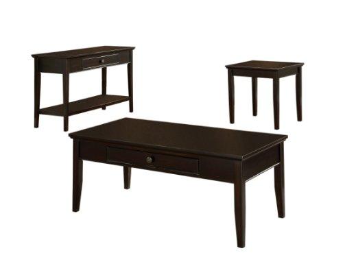 Furniture Of America Idf-4623(2+1) Liandra 3-Piece Felt-Lined Drawer Table Set, Dark Cherry Finish front-1004301
