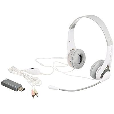 サンワサプライ USB/ステレオミニプラグ両用 ヘッドセット/ヘッドホン グレー MMZ-HSUSB14GY
