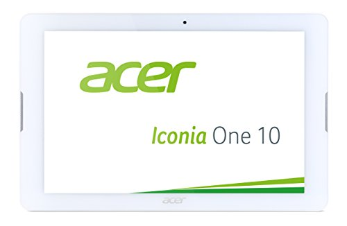 Acer Iconia One 10 (B3-A20) 25,7 cm (10,1 Zoll HD) Tablet-PC (MTK MT8163 Quad-Heart, 1GB RAM, 16GB eMMC, Android 5.1 Lollipop) weiß