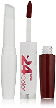 Maybelline New York Superstay 24, 2-step Lipcolor, Everlasting Wine 005