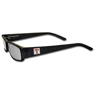 MLB Black Reading Glasses, +2.25, Texas Rangers