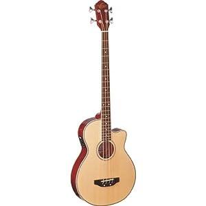 Oscar Schmidt OB100 Acoustic-Electric Bass with Gig Bag - Natural