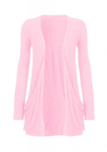 Hot-Hanger-Ladies-Pocket-Long-Sleeve-Cardigan