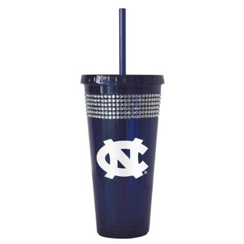NCAA North Carolina Tar Heels Bling Straw Tumbler, 22-Ounce (Tar Soda compare prices)