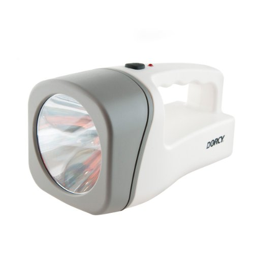Dorcy 41-1033 Rechargeable Led Flashlight Lantern With Built-In Ac Adaptor, 23-Lumens, White Finish