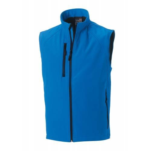 Russell Collection Mens Softshell Gilet - Azure Blue - S
