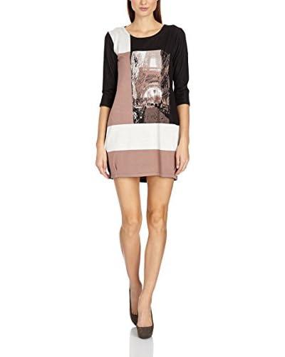 MOE Kleid braun/schwarz