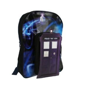 Doctor Who 3d Tardis Backpack Bag, Back to School