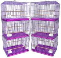 Brand New Lot of SIX Aviary Breeding Bird Cage Cages 24x16x16PURPLE