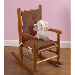 Heavenly Soft Childs Rocking Chair Cushion Color Minky Brown