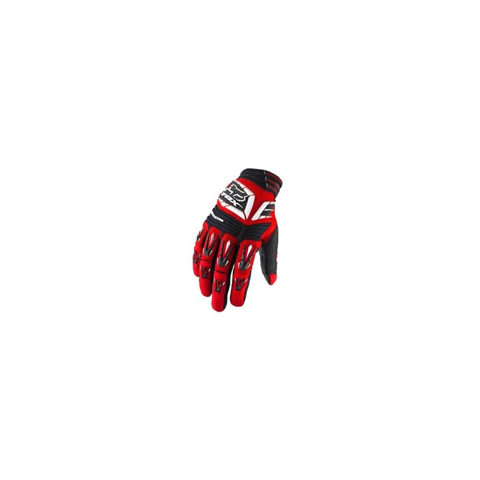 Fox Racing Pawtector Gloves   Small/Bright Red