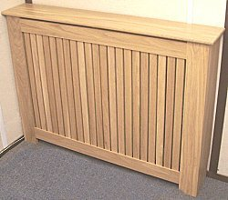 Solid oak slatted radiator cover (small)       review and more info