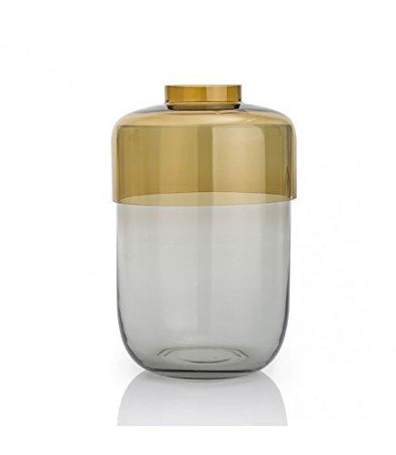 Leonardo Set/2tlg.Vase 25 braun/grau
