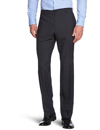 ESPRIT Collection Herren Anzughose Slim Fit 993EO2B900, Gr. 102 (XL), Schwarz (001 black)
