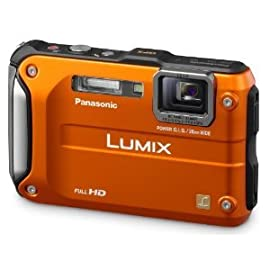 Panasonic Lumix DMC-TS3 12.1 MP Waterproof Digital Camera (Orange)
