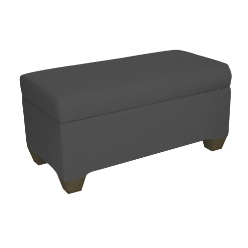 Skyline Furniture Walnut Hill Storage Bench in Twill Black