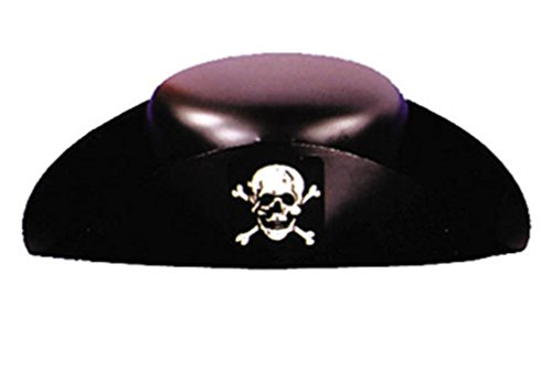 Plastic Pirate Hat Halloween Accessory