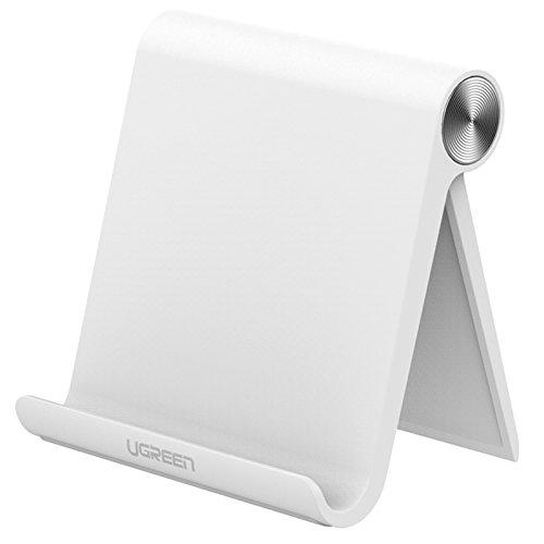 Ugreen スマホスタンド おりたたみ 角度調整可能 デスクトップスタンド iPhone iPad iPod Galaxy Nexus 等タブレット スマホに最適 全3色 ホワイト