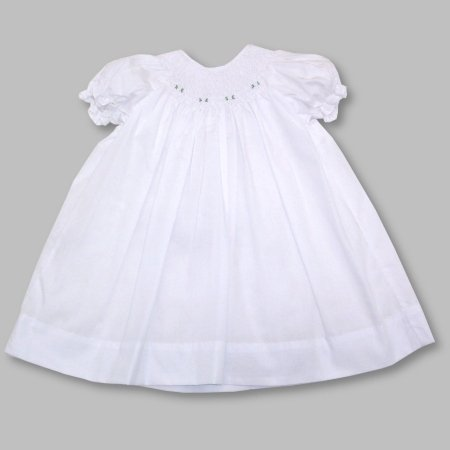 Petit Ami Daygown with Embroidered Rosettes - Buy Petit Ami Daygown with Embroidered Rosettes - Purchase Petit Ami Daygown with Embroidered Rosettes (Petit Ami, Petit Ami Apparel, Petit Ami Toddler Girls Apparel, Apparel, Departments, Kids & Baby, Infants & Toddlers, Girls, Skirts, Dresses & Jumpers, Dresses)
