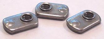 3/8-24 Tab Weld Nuts / Single Projection / Steel / Plain / 1,000 Pc. Carton