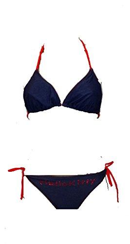 """Costume da Bagno Bikini Hello Kitty Donna """"Jeans""""- Piscina Mare-M-bianco"""