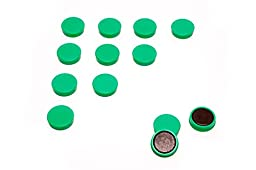 Scribble 1 Inch Whiteboard/refrigerator Magnets, Pack of 20 in Green