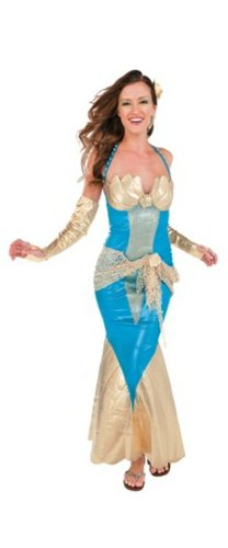 Rubie's Costume Co Women's Mermaid Halloween Costume Sea Goddess Dress