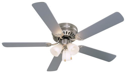 Hardware House 41-5893 Bermuda 52-Inch Flush Mount Ceiling Fan, Silver or Washed Pine (Silver Flush Mount Ceiling Fans compare prices)