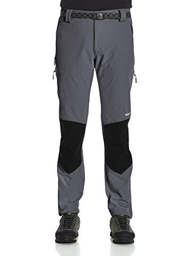 Izas Grouser - Pantaloni da trekking da uomo, UOMO, Grouser, Gris Oscuro / Negro, L