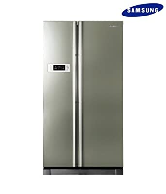 Samsung RS21HSTPN1/XTL Frost-free  Side-by-Side Refrigerator (600 Ltrs, Platinum Inox)