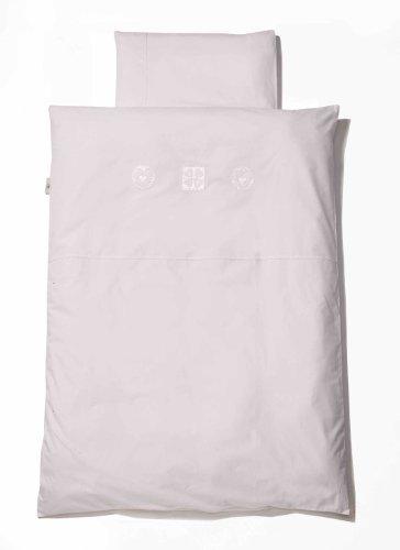 Easy Baby 410-32 - Piumone per lettino, 100 x 135 cm, con decorazione a cuori, colore: bianco