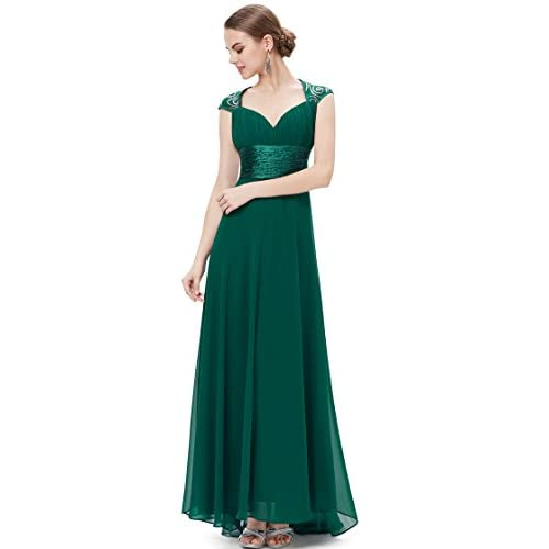 Ever Pretty Women's Chiffon Sexy V-Neck Ruffles Empire Line Evening Dress 09672