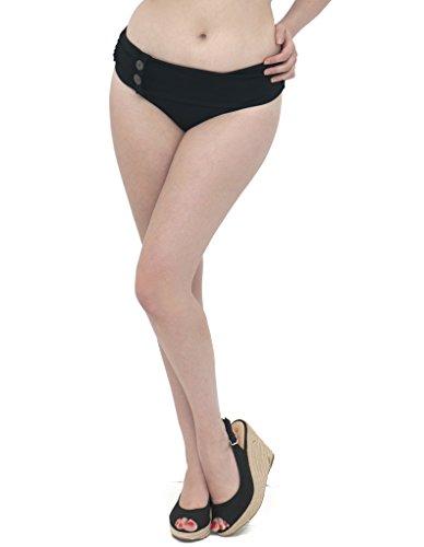 Curvy Kate Luau Love Black Mini Fold Over Bikini Brief