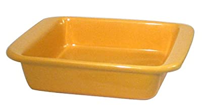 Chantal 2-Quart Square Baker, Glossy Curry Yellow