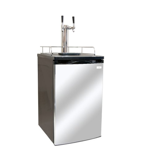 Kegco K199SS-2 Dual Faucet Kegerator Draft Beer Dispenser with Stainless Steel Door