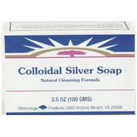 Heritage Store Colloidal Silver Soap, 3.5 Ounce (Pack of 2)