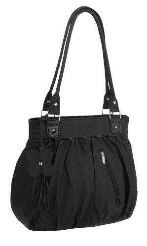 EyeCatchBags - Galaxia Damen Handtasche aus Kunstleder Schwarz