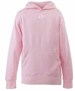 Nashville Predators YOUTH Girls Signature Hooded Sweatshirt (Pink) - Small