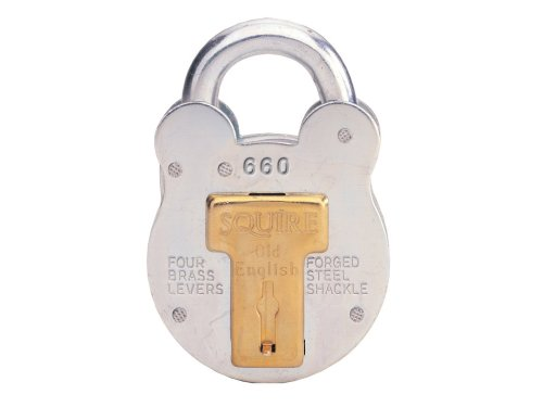 Squire Padlock - 4 Brass Levers Steel - 64Mm 660 front-1083747