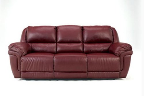 Autumn Leather Reclining Sofa w/Drop Down Table