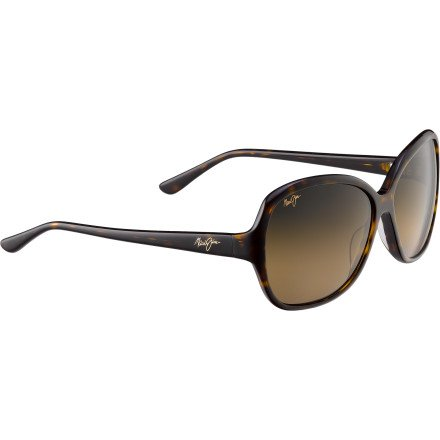 Maui-Jim-Maile-Black-With-Crystal-Frame-Maui-Rose-Polarized-Lenses