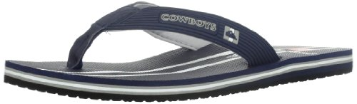 Quiksilver Men's Dallas Cowboys NFL Flip Flop,Blue/Grey,14 M US
