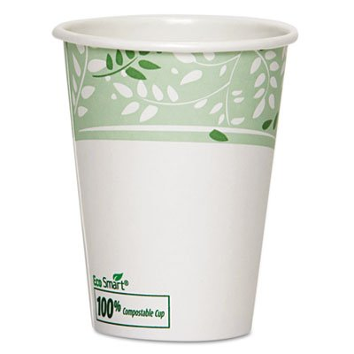 Dixie 2342SAGE 12 oz Mira-Glaze Paper Hot Cup with Sage Design (20 Packs of 50)