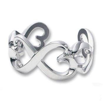 10Mm Luxury Designer .925 Italian Sterling Silver Polished Love Infinity Knots Celtic Valentines Day Linked Open Hearts Size 4-11 Ring (.925 Italian Sterling Silver, 9)