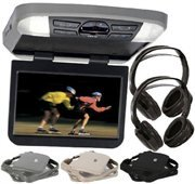 Audiovox AVXMTG10UA 10'' Overhead Monitor W/ Built-In DVD Player USB/SD Input & Remote W/ 3 Colors Interchangeable Trim Rings