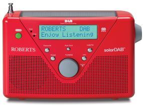 SolarDAB2 red DAB/FM solar powered radio