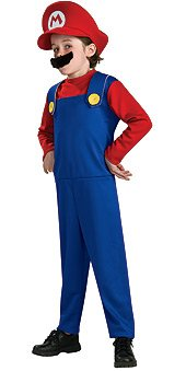 Super Mario Brothers Toddler Costume, Mario, Toddler (Us Size 2-4)