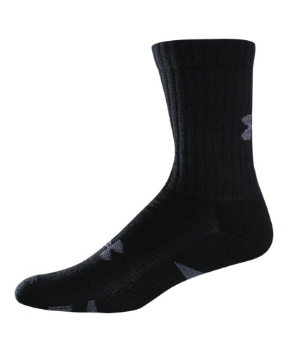 Under Armour HeatGear Trainer Crew Socks 4-Pack Medium Black