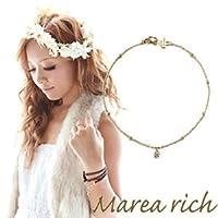 [マレア リッチ] Marea rich K10 シンプルダイヤブレスレット ゴールド×ダイヤモンド 10KJ-11 [並行輸入品]