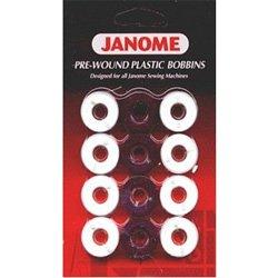 Janome Pre-wound Plastic Bobbins - Black & White (Prewound Bobbins Janome compare prices)